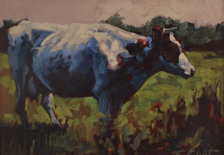 Evening cow 30x40 cm Oil on panel