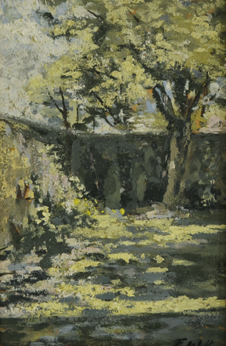 Former Garden Lange Leemstraat 18x25 cm Oil on Canvas