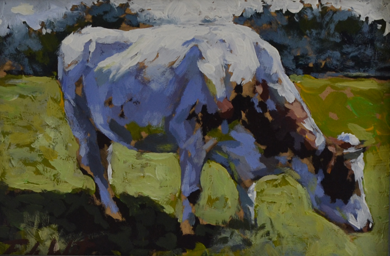 Cow 20x30 cm Acrylics on panel