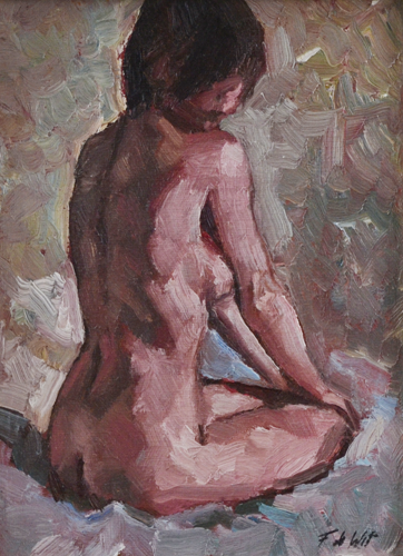 Nude painting 18x24 cm Oil on canvas