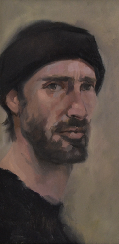 Selfportrait 22x41 cm Oil on Canvas