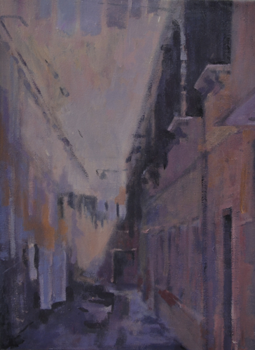 Venice Magenta 30x40 cm Acrylic on canvas