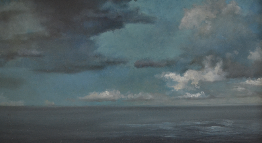 Clouds 32x55 cm Oil on Panel